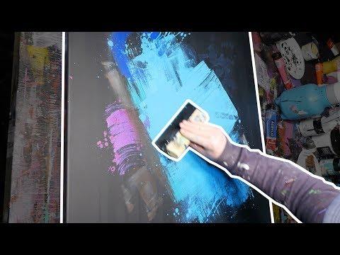 Acrylic Abstract Painting | Speedart demonstration | Noseslide