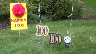 Cumberland Crossings resident honored on 100th birthday with surprise car celebration parade