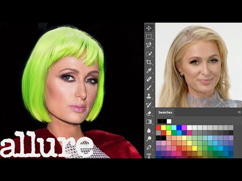 Paris Hilton Photoshops Herself Into 7 Different Looks | Allure