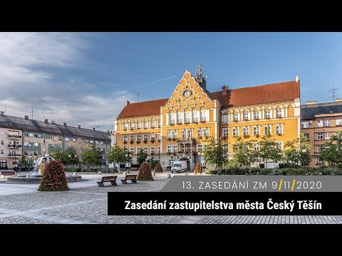 13. zasedání zastupitelstva Český Těšín 9. 11. 2020 (GDPR)