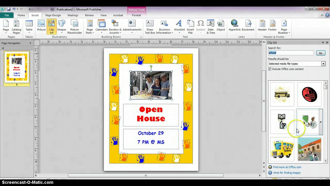Publisher 2010 - Creating Flyers from Templates - YouTube