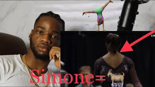 Simone Did The Triple Wha?! Simone Biles Triple Double Flip Reaction