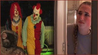 Scary Clown Stalkers Chase Caught on Camera - Creepy Night Walk