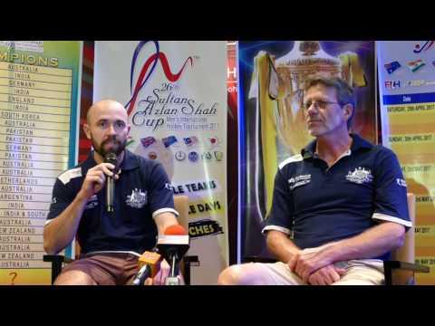 Australia Media Conference. Azlan Shah Cup Hockey 2017