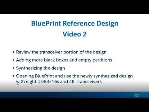 Blueprint Reference Design Part 1
