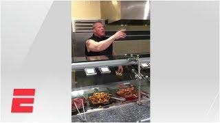Brock Lesnar Serves Breakfast In ESPN Cafeteria | ESPN Archives