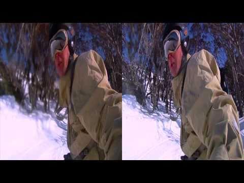3D GoPro snowboarding movie Part 2 (Thredbo in 3D)