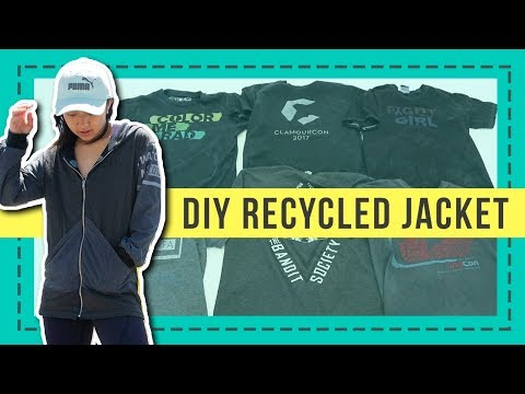 DIY Recycled Jacket From Old T-shirts | Coolirpa