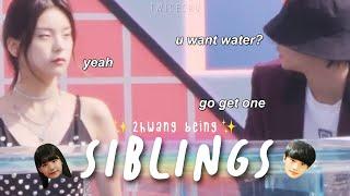 yeji and hyunjin being siblings