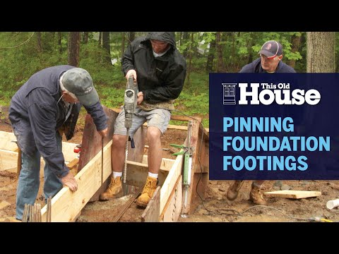 How to Pin Foundation Footings to a Granite Ledge | This Old House