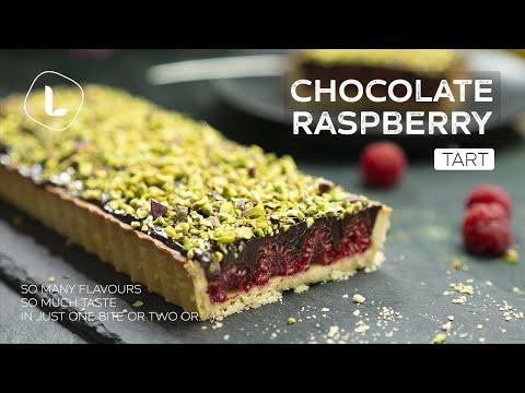 Chocolate Raspberry Tart | Food Channel L Recipes