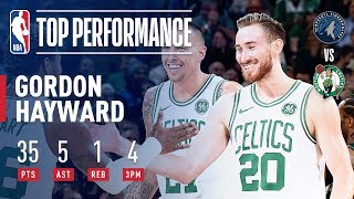 Gordon Hayward Goes Off For 35 PTS On 14-18 Shooting To Spark Celtics! | January 2, 2019