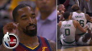 JR Smith waves goodbye to Marcus Smart after Cavs-Celtics scuffle   NBA Preseason Highlights
