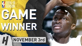 Victor Oladipo CLUTCH Highlights Pacers vs Celtics 2018.11.03 - 24 Pts, 3 Ast, 12 Reb, GAME-WINNER!