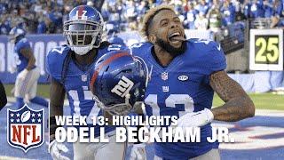Odell Beckham Jr.'s Record-Breaking Day! (Week 13) | Jets vs. Giants | NFL