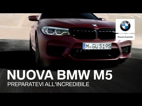 La Nuova BMW M5 in tutta la sua potenza.