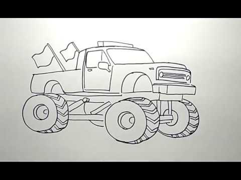 Cara Menggambar Mobil Truk Pasir
