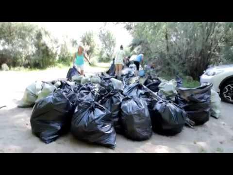 Очищаем береговую линию. Не мусорим!