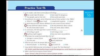 اجابات Work Book Practice test 5 B للثالث الثانوي