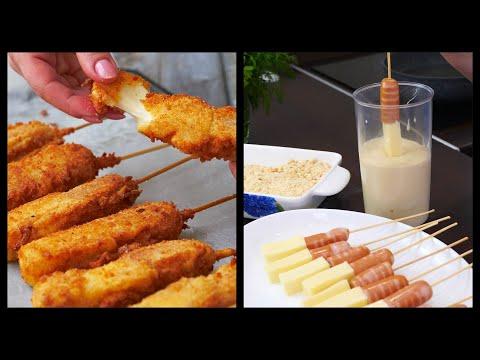 Сырный  хот-дог  очень вкусный ПЕРЕКУС | Корн-Дог