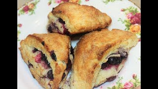 Light and Flaky Blueberry Scones!