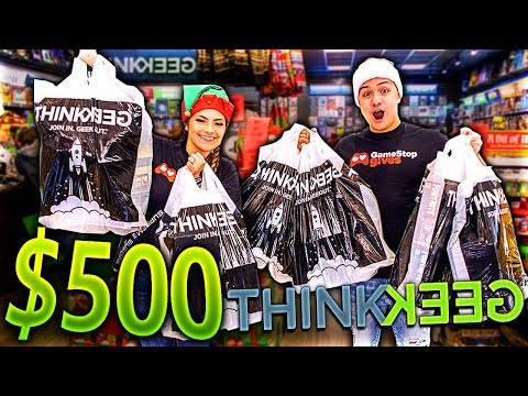 THE $500 THINKGEEK CHALLENGE!! (CHRISTMAS SHOPPING)