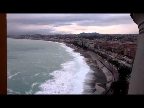 Шторм в Ницце 9 ноября 2011