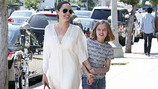 Angelina Jolie Looks Like An Angel Shopping With Daughter Vivienne