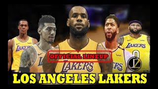 OFFICIAL LINEUP | BUO NA | PAMBATO ng LOS Angeles LAKERS next SEASON