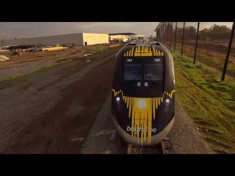 Siemens Completes Brightline's First Trainset; Brightline Train Departs Sacramento