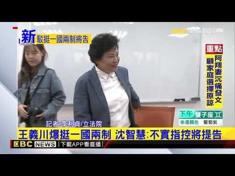 最新》王義川爆挺一國兩制 沈智慧:不實指控將提告