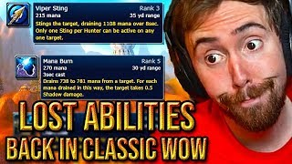 "Asmongold Reacts To The ""Top 10 Lost Abilities Coming Back in WoW Classic"" - Hirumaredx"