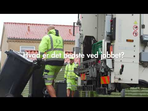 En dag som renovationsmedarbejder (skraldemand)