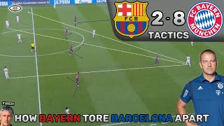 How Bayern Tore Barcelona Apart: Barcelona 2-8 Bayern Munich - Tactics (Analysis + Highlights)