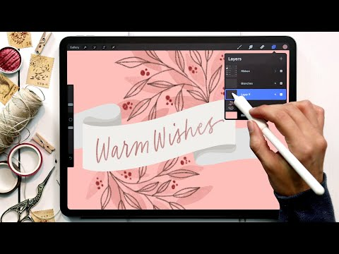Create a Holiday Ribbon in Procreate