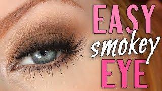 Easy Smokey Eye Tutorial   SHOWN IN REAL TIME