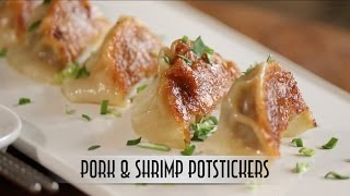 Pork & Shrimp Potstickers with Dipping Sauce