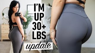How Gaining 30 lbs Changed My Physique (Boobs, Glutes, Stretch Marks) + Training Update