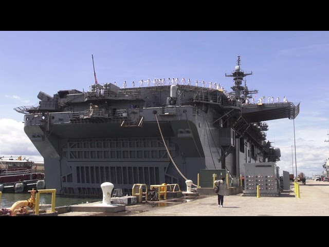 Mini-carrier' USS Wasp on way to Sasebo to load stealthy F-35Bs