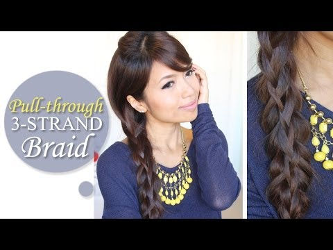 Intricate Pull-through 3-Strand Braid  Hairstyle | Long Hair Tutorial - Bebexo  - 4F6wzS3wSig -