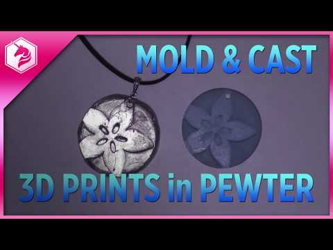 LEARN: Mold & Cast 3d Prints in Pewter @adafruit #adafruit