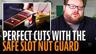 Watch the Trade Secrets Video, StewMac Safe Slot for building perfect guitar nuts