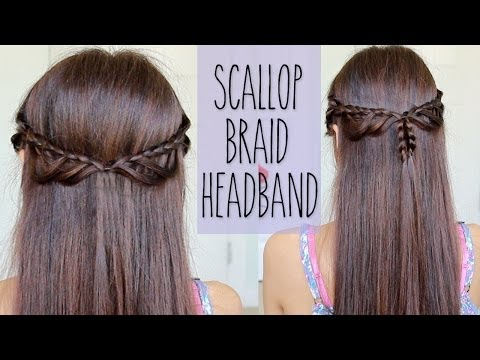 Scallop Braid Headband | Hairstyle for Medium Long Hair Tutorial - Bebexo  - 4FngjVDcm2I -