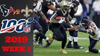 Houston Texans vs New Orleans Saints | NFL Week 1 Game Highlights