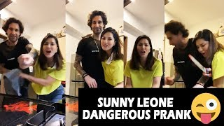 Must Watch: Sunny Leone dangerous prank with her husband..