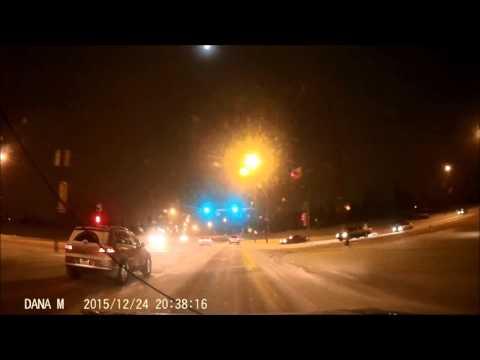 Christmas Eve - Truck Crossing Median Crash Calgary