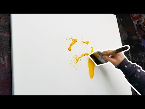 How to paint an Acrylic Abstract Painting | Speedart Demonstration | Galactica