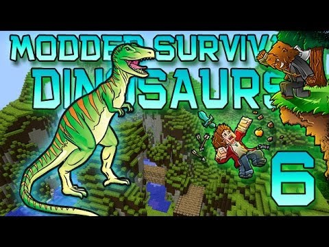 Minecraft: Modded Dinosaur Survival Let's Play W/Mitch! Ep. 6 - TYRANNOSAURUS IS GROWING UP! - Smashpipe Games