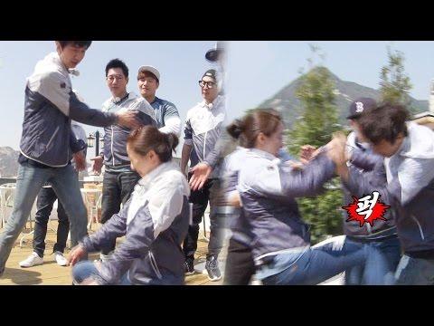 송지효, 이광수 '딱밤'에 봉인 해제…'멍광남매' 살벌한 육탄전! 《Running Man》런닝맨 EP427