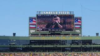 PACKERS VS SEAHAWKS 2017 NATIONAL ANTHEM/FLYOVER